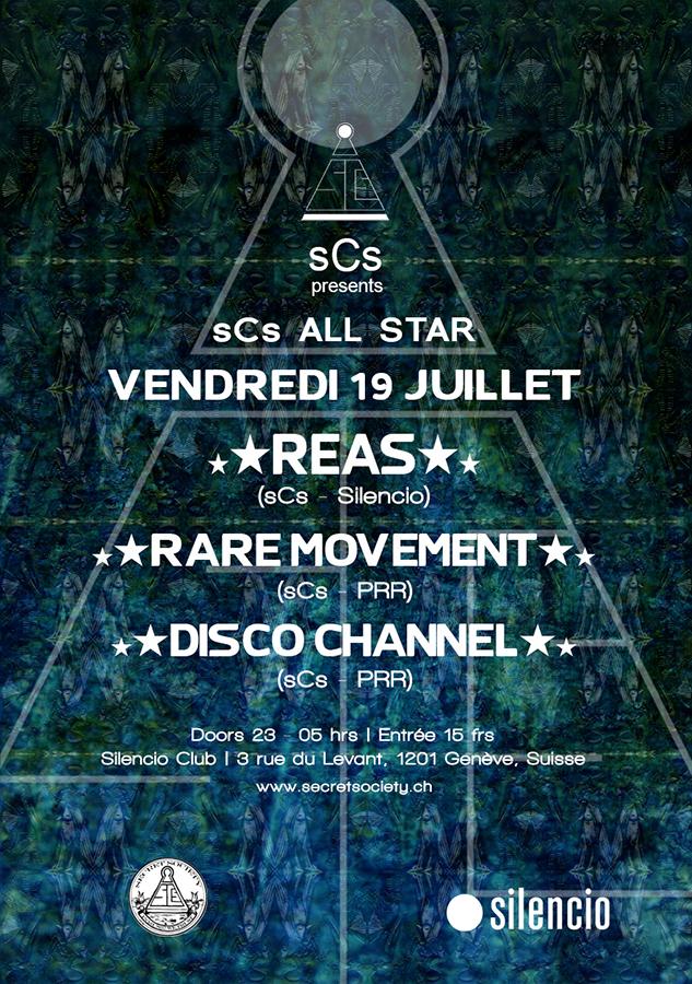 sCs ALLSTAR : Dj Reas, Rare Movement & Disco Channel