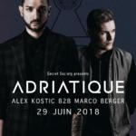 Adriatique, Alex Kostic b2b Marco Berger - @Uptown