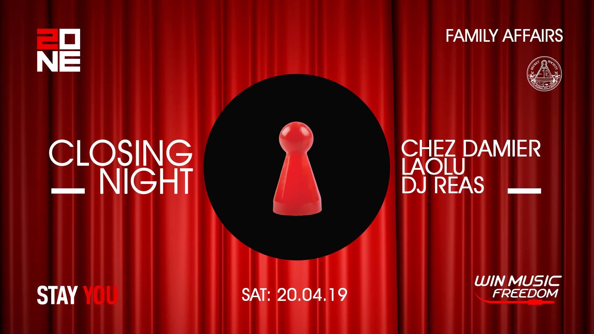 Family Affairs pt. 7 : Chez Damier, Laolu, Dj Reas - @Zone Club