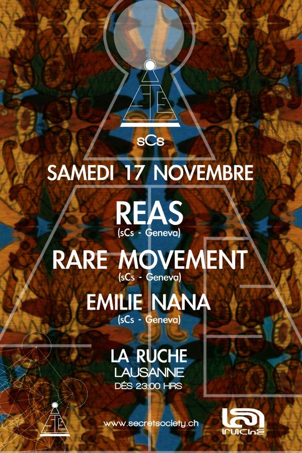 Dj Reas, Rare Movement & Emilie Nana - @La Ruche