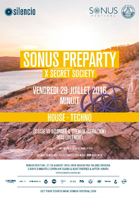 Sonus Pre-party w/ Cesare vs. Disorder, Quenum & Reas - @Silencio