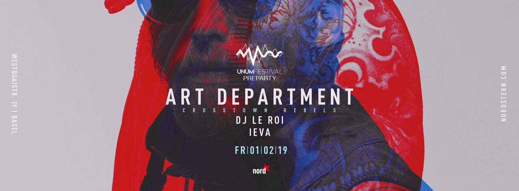 UNUM Pre-Party in Basel w/ Art Department, DJ Le Roi & Ieva