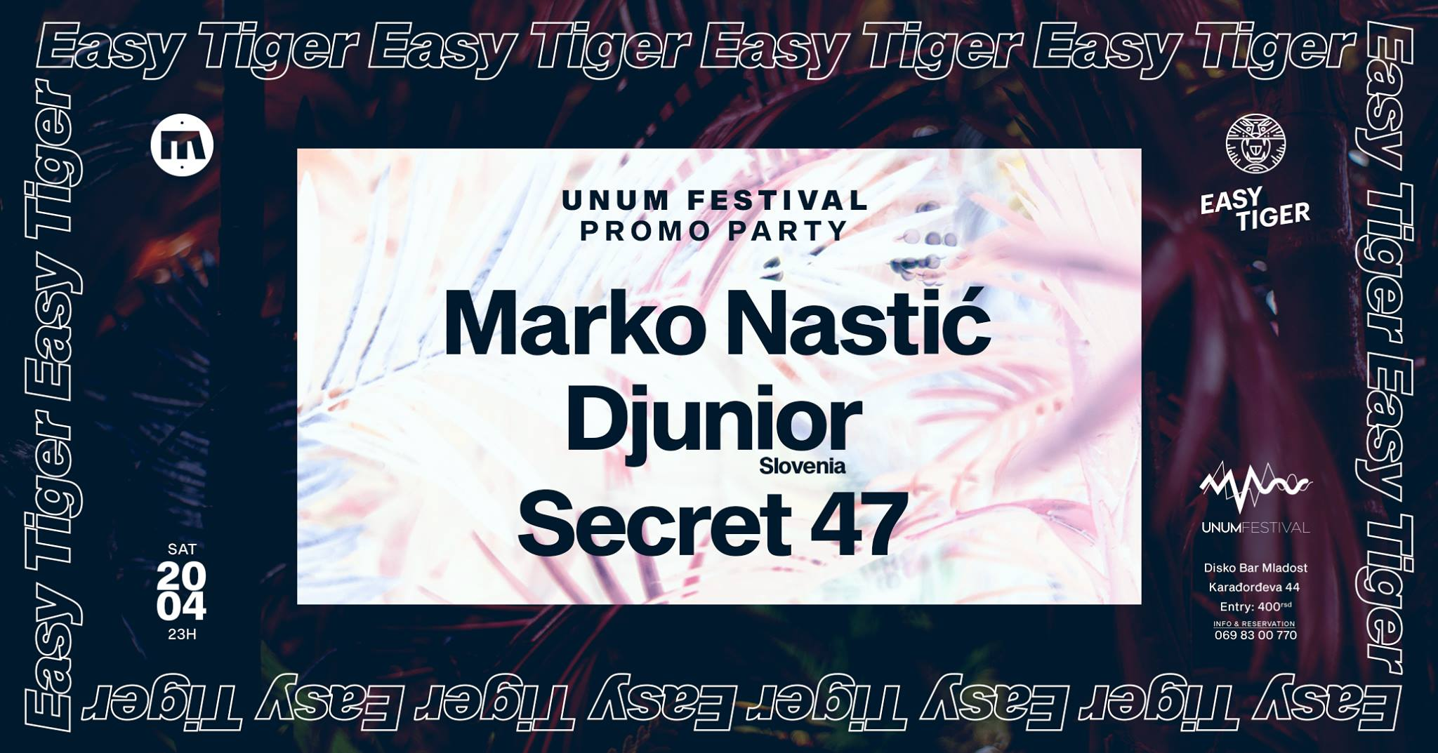UNUM Pre-Party in Belgrade w/ Marko Nastic, Djunior & Secret 47